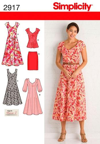 simplicity sewing pattern misses and womens dress pattern plus
