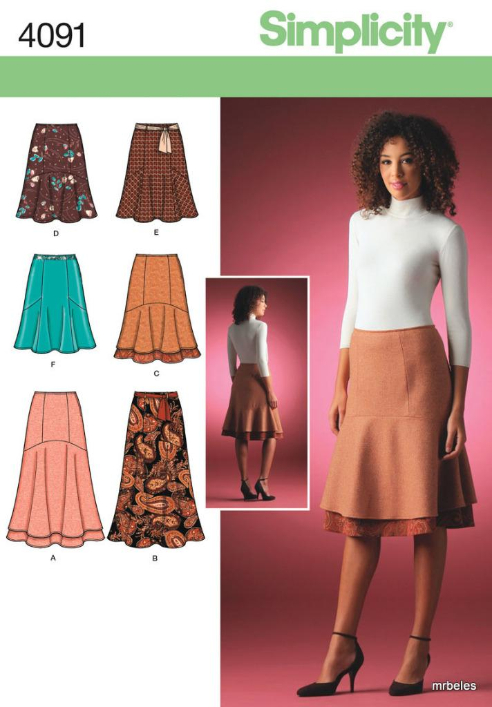 Simplicity Sewing Pattern Misses Plus Size Skirts Pants ...