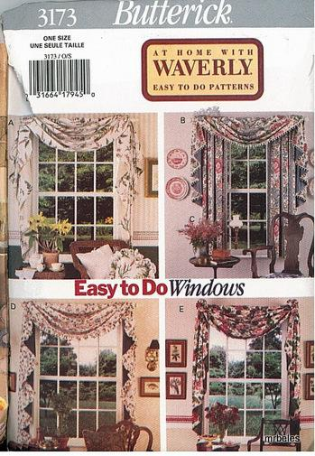 OOP Butterick Sewing Pattern Window Treatment Home Decor