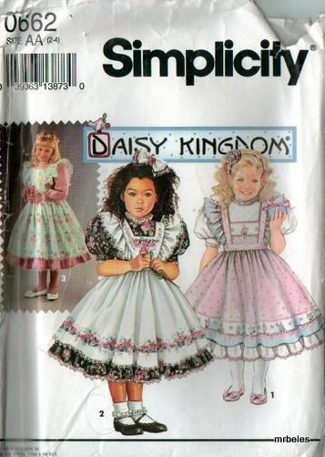 OOP Daisy Kingdom Simplicity Sewing Pattern Child Toddler Girls ...