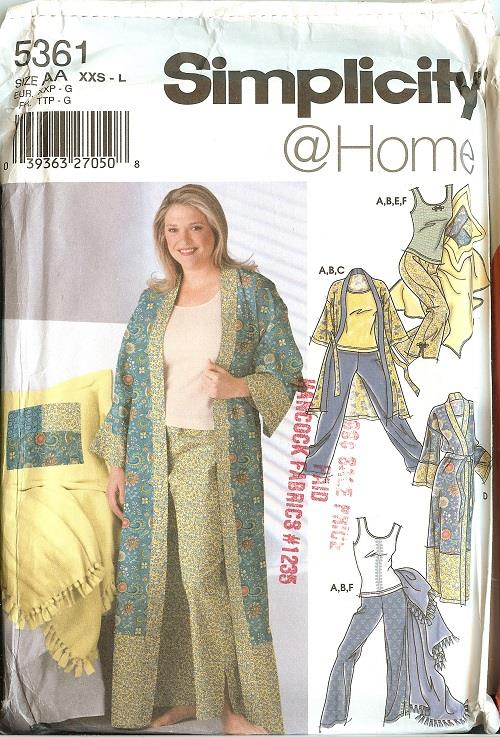 Simplicity Sewing Pattern Misses Sleepwear Loungewear Pajamas Plus ...