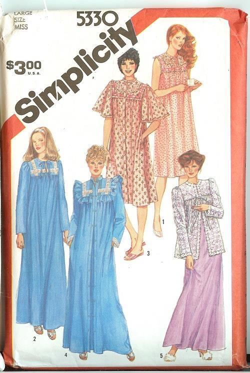 Simplicity Sewing Pattern Misses Sleepwear Loungewear Pajamas Plus