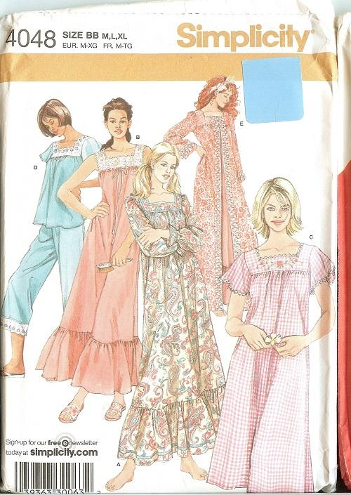 Simplicity Sewing Pattern Misses Sleepwear Loungewear Pajamas Plus ...