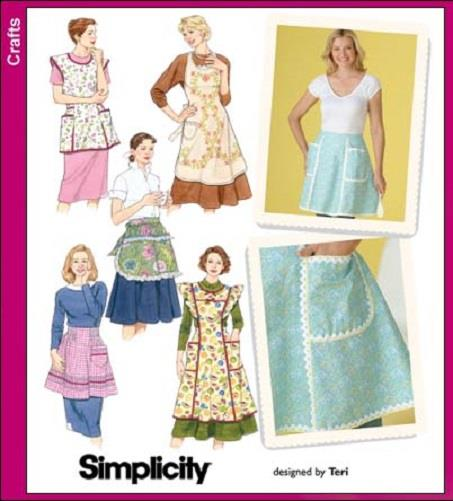 Retro Vintage Style Apron Pattern Simplicity Sewing ...