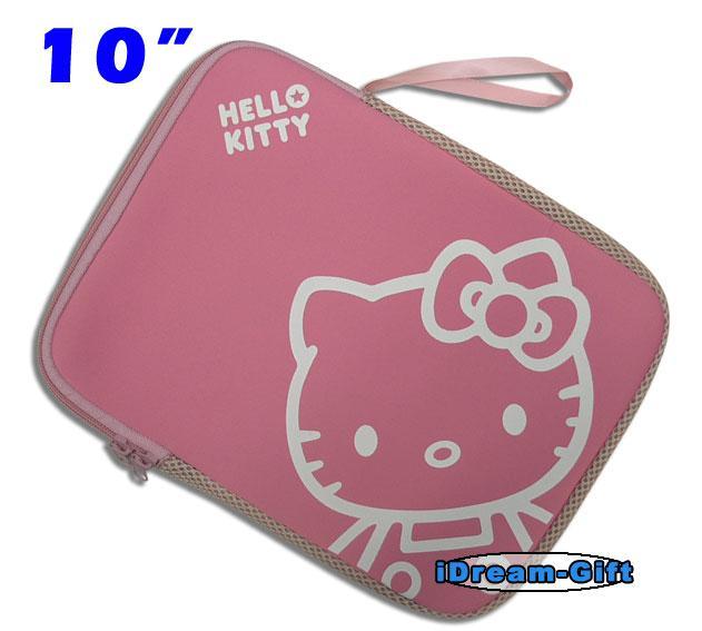 "Hello Kitty Samsung Note Galaxy Tab 10 1"" iPad Notebook Laptop Sleeve Case Pink"