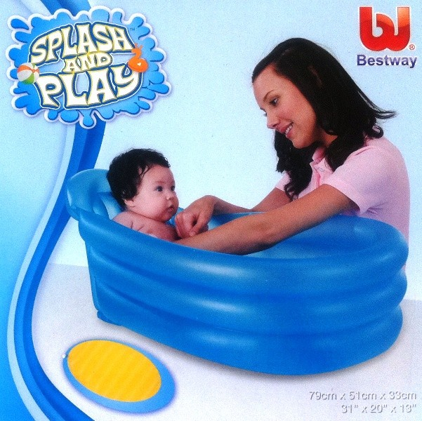 bestway inflatable portable baby bath tub bathtub ebay. Black Bedroom Furniture Sets. Home Design Ideas