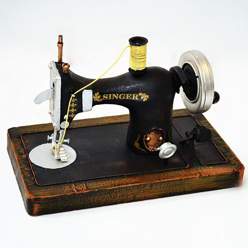 Handmade-Archaized-Metal-Art-Singer-Sewing-Machine-Model-Black-7305