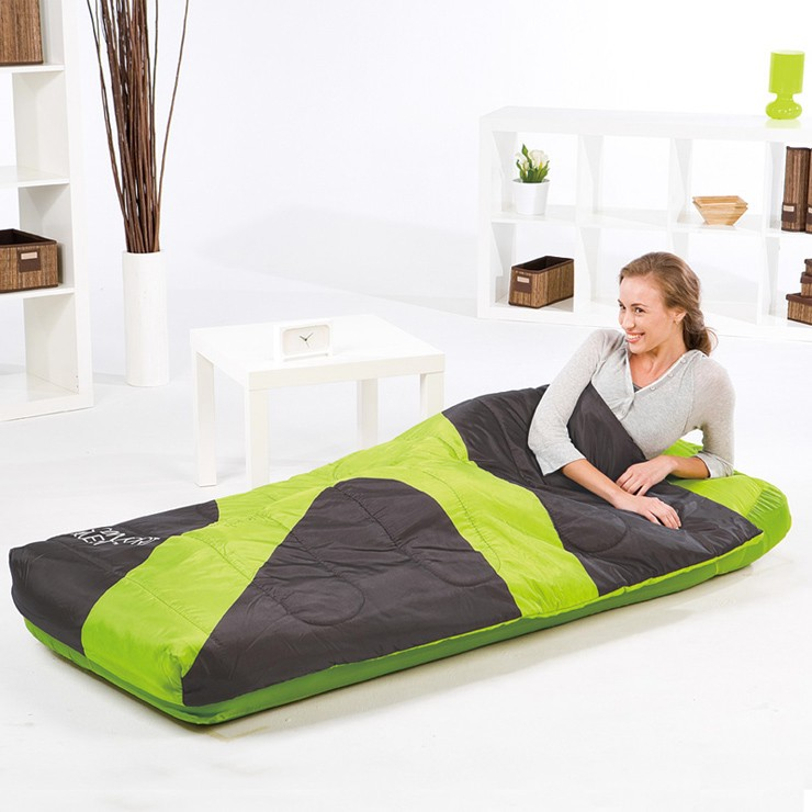 BestwayComfort-Air-Bed-Matttres-Sleeping-Bag-185x76x22cm-67434-Light-Green