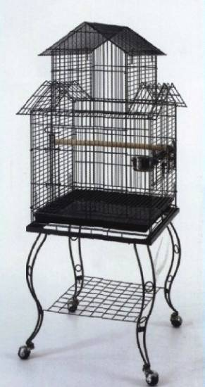 NEW-Large-Parrot-Canary-Bird-Cage-Aviary-Castor-Stand-Model-D