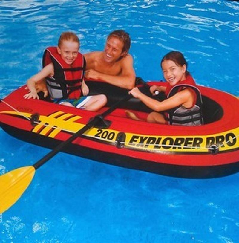 New-Intex-Explorer-200-Set-Inflatable-Boat-Oars-Pump