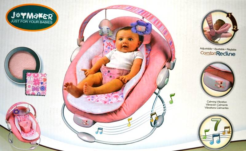 New-Comfortable-Music-Joymaker-Baby-Bouncer-Rocker-Pink