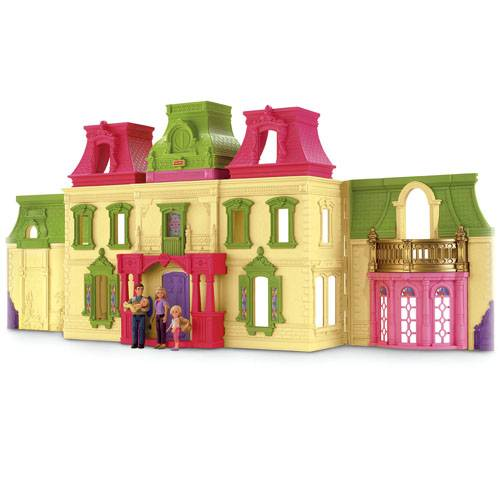 New-Pretend-Fisher-Price-Ex-Large-Loving-Family-Dream-Dollhouse-Doll-house-9729