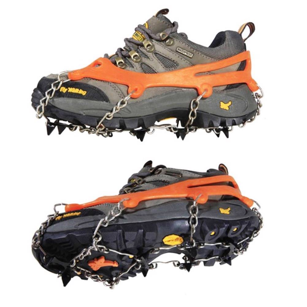 NEW-Anti-Slip-Crampon-Rock-Steel-Fishing-Shoe-Cleat-Chain
