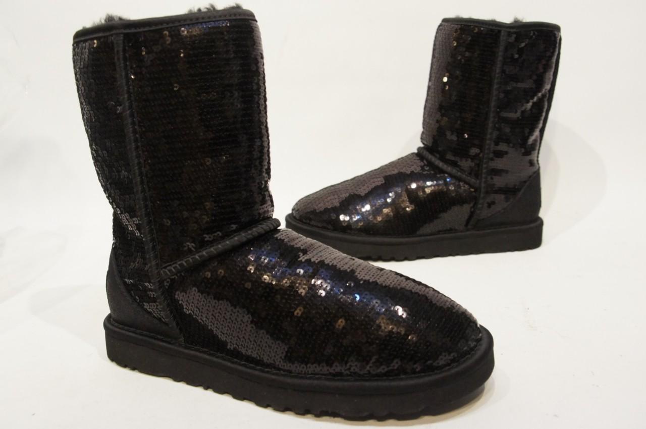 ugg australia sparkles black boots shoes 3161 sz8 ebay