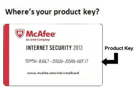 McAfee Product Key Card