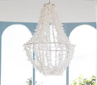 new pottery barn kids lily crepe paper chandelier ebay. Black Bedroom Furniture Sets. Home Design Ideas