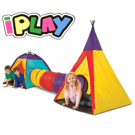 Brand-NEW-Large-iPlay-Tent-Tee-Pee-and-Tunnels-For-Toddlers-Babies-kids-Children