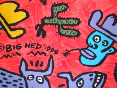 1994 Big Hed Designs Funky Hawaiian Cowboy Shirt Med Ebay