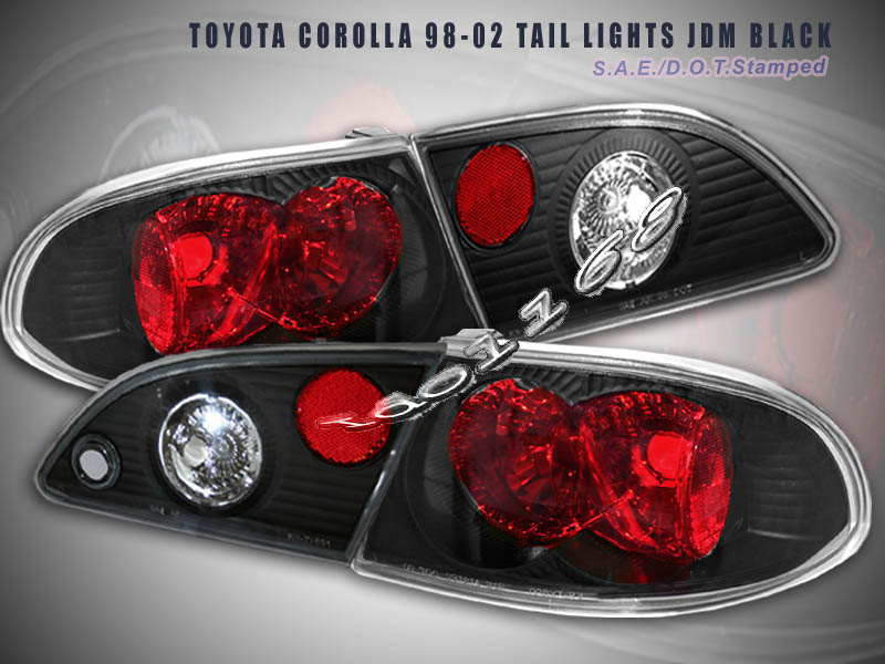 98 02 toyota corolla tail lights jdm black 99 00 01 g2 ebay. Black Bedroom Furniture Sets. Home Design Ideas