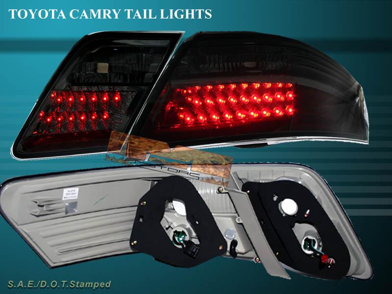 2007 2008 2009 toyota camry se le ce smoke led tail lights ebay. Black Bedroom Furniture Sets. Home Design Ideas