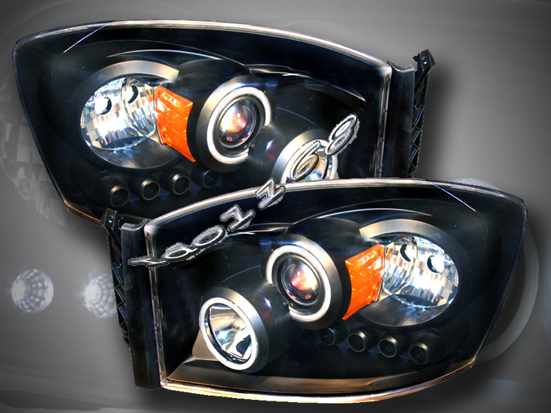2006 2007 2008 dodge ram 1500 2500 3500 headlights ccfl. Black Bedroom Furniture Sets. Home Design Ideas