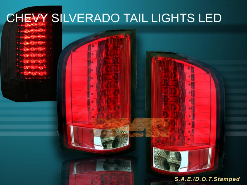 07 10 chevy silverado tail lights led smoke 2008 2009 2007. Black Bedroom Furniture Sets. Home Design Ideas