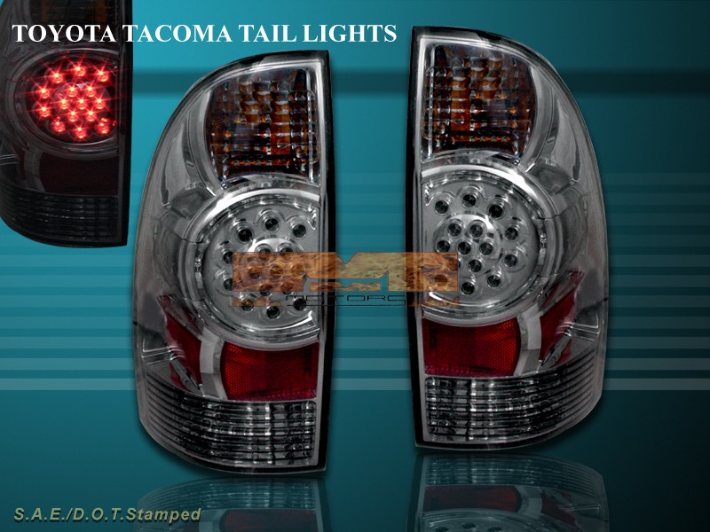 05 08 tacoma smoke led tail lights rear brake lamps ebay. Black Bedroom Furniture Sets. Home Design Ideas
