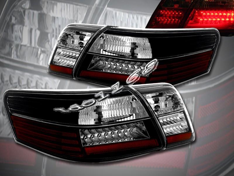 2007 2008 2009 toyota camry sedan black led tail lights ebay. Black Bedroom Furniture Sets. Home Design Ideas