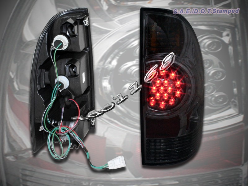 05 06 07 08 toyota tacoma euro tail lights led smoke ebay. Black Bedroom Furniture Sets. Home Design Ideas