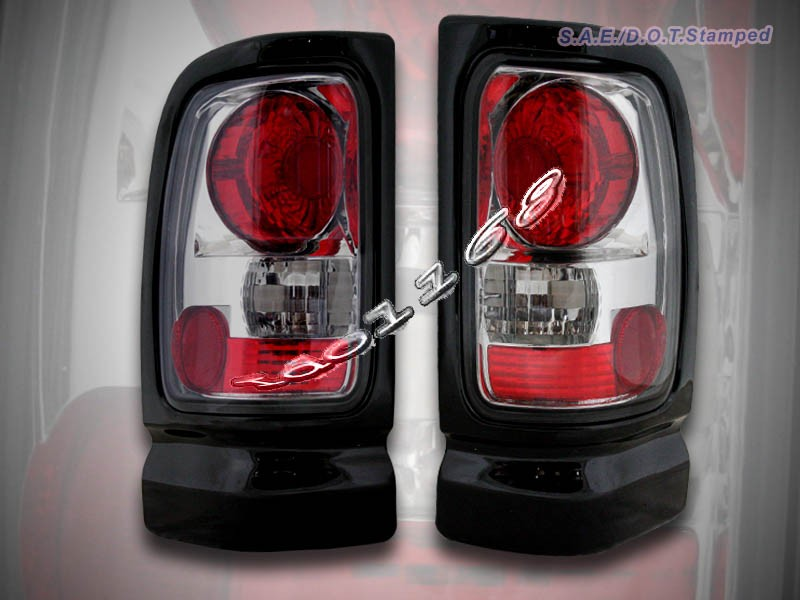 details about 1994 2001 dodge ram 1500 2500 3500 tail lights smoke 95. Black Bedroom Furniture Sets. Home Design Ideas