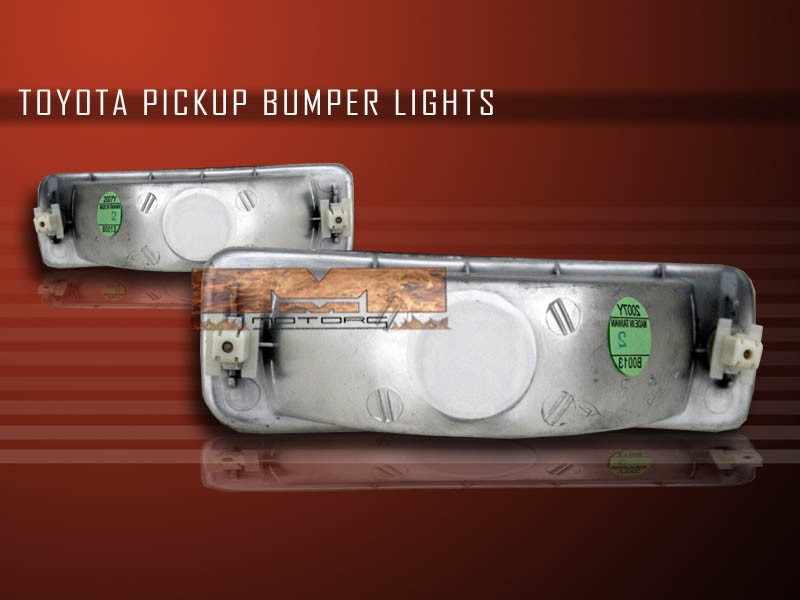 1989 1995 toyota pickup 1990 1991 4runner clear bumper. Black Bedroom Furniture Sets. Home Design Ideas