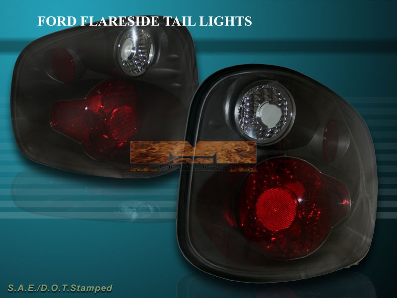 about 2001 2003 ford f150 f 150 flareside tail lights dark smoke 2002. Black Bedroom Furniture Sets. Home Design Ideas