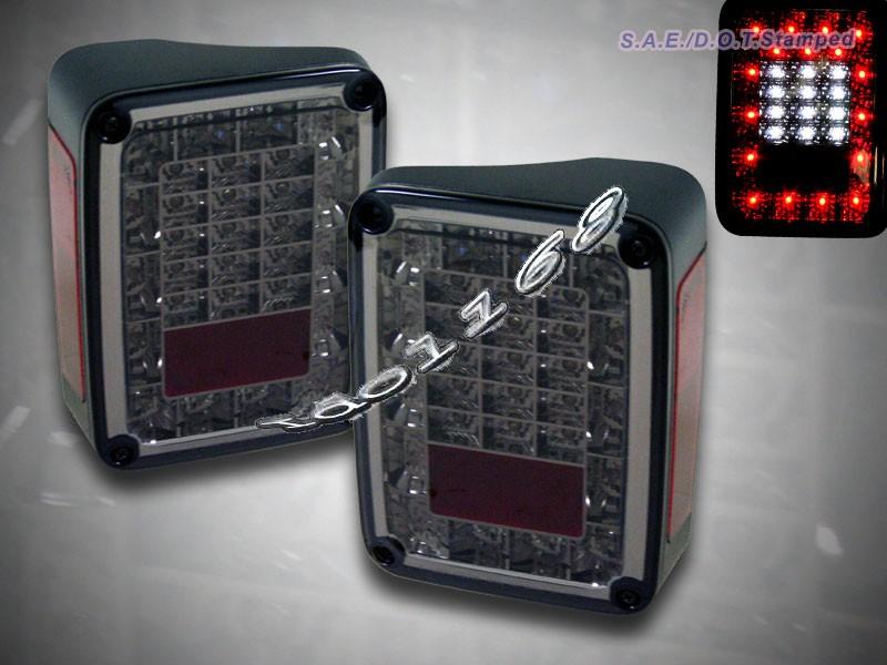 2007 2014 jeep jk wrangler led tail lights sport rubicon. Black Bedroom Furniture Sets. Home Design Ideas