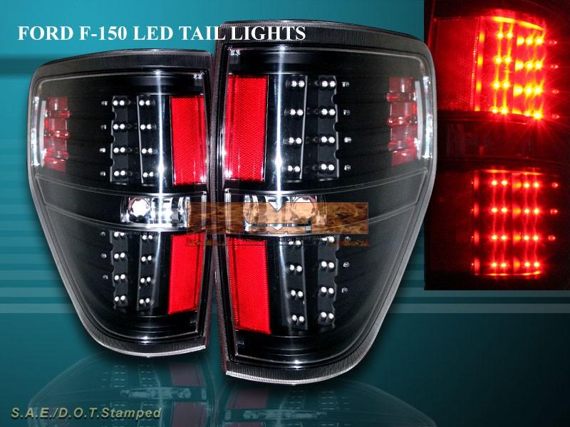2009 2013 ford f150 f 150 fx2 fx4 stx xlt xl led tail lights l e d. Black Bedroom Furniture Sets. Home Design Ideas