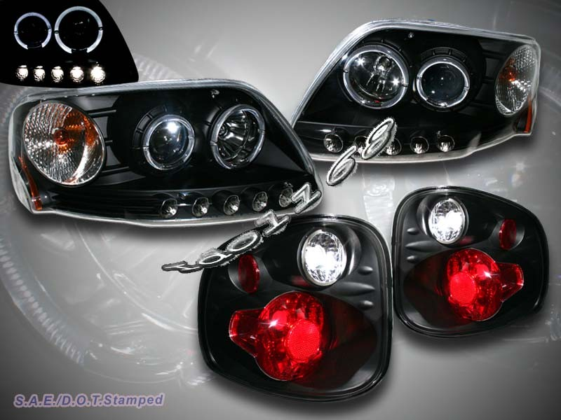 03 ford f150 flareside two halo led projector headlight flareside tail. Black Bedroom Furniture Sets. Home Design Ideas