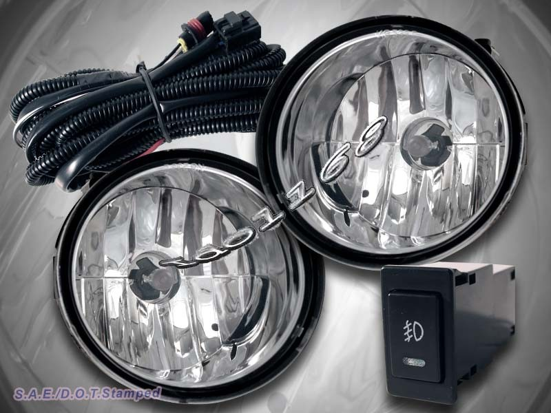 fit 04 08 titan 04 07 armada fog lights kit with switch wiring relay clear ebay