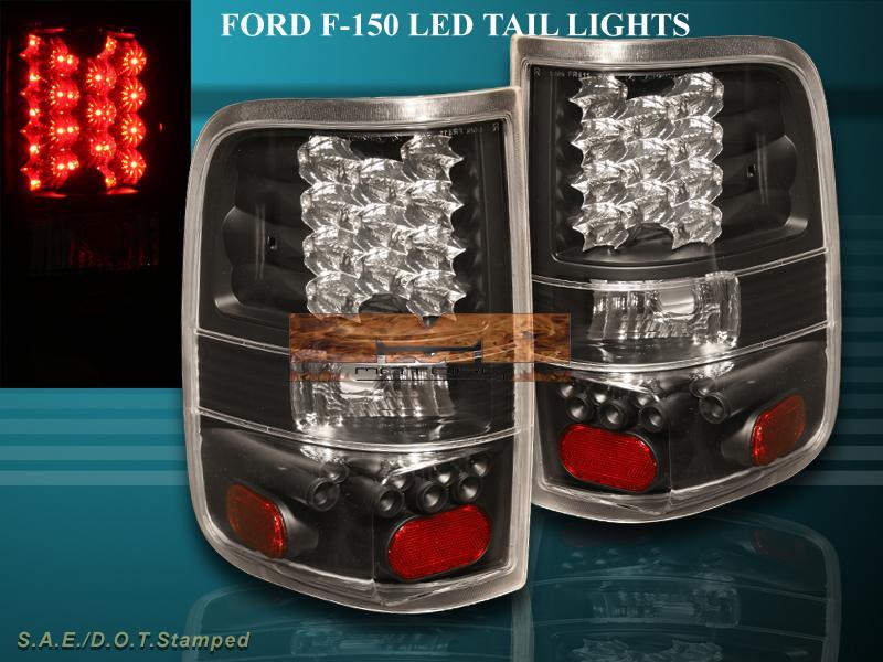 about 04 08 ford f150 black led tail lights 2004 2005 2006 2007 2008. Black Bedroom Furniture Sets. Home Design Ideas