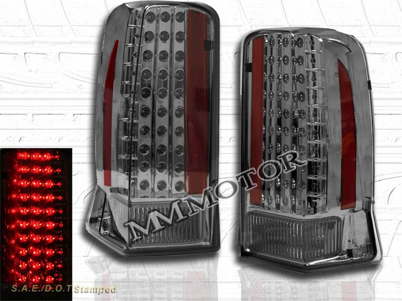 details about 02 06 cadillac escalade led tail lights smoke 03 04 05. Black Bedroom Furniture Sets. Home Design Ideas