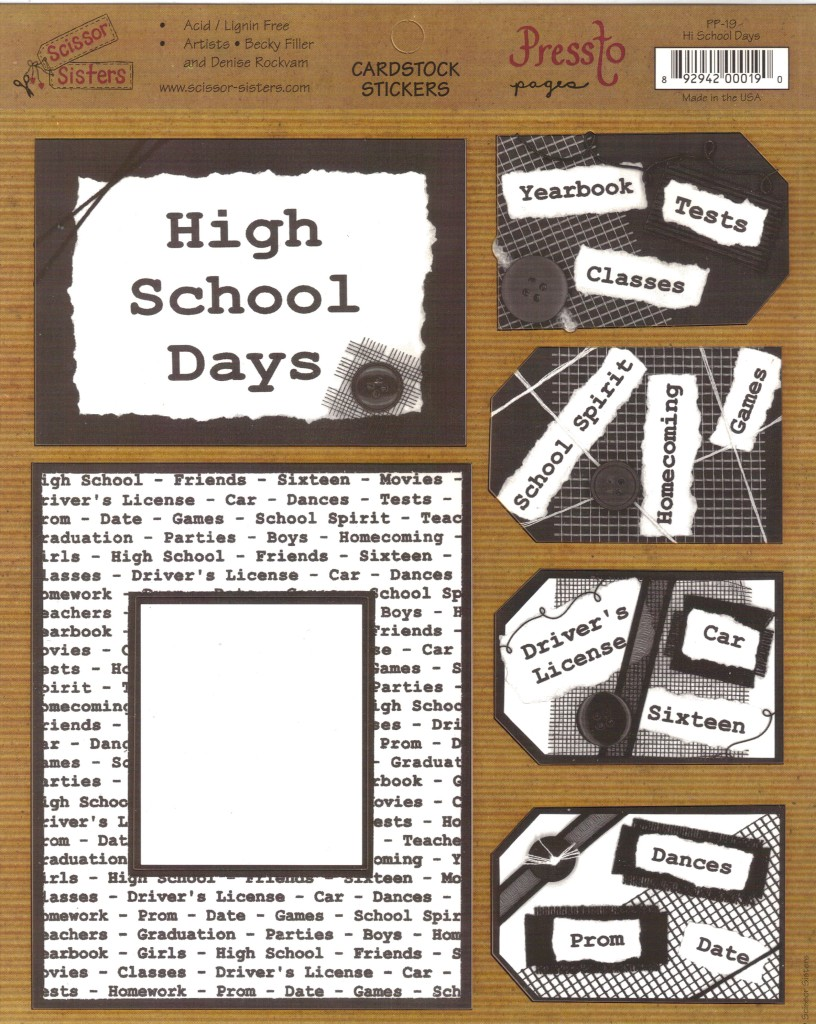 Pressto-Pages-CARDSTOCK-STICKERS-Jumbo-Size-8X10-Choice-GIRL-BOYS-HIGH-SCHOOL