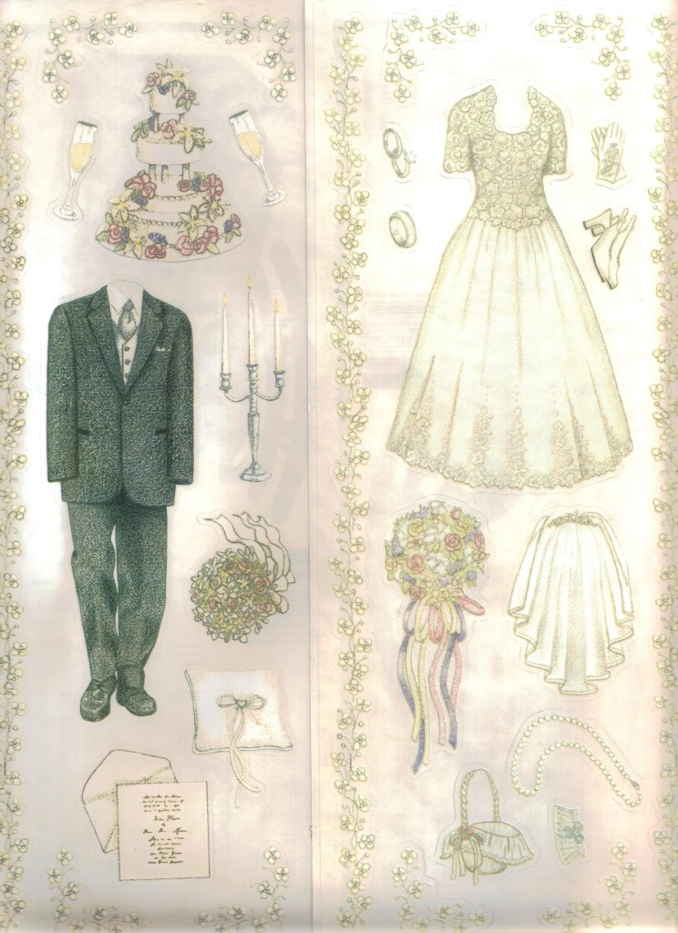 WEDDING Sticker Sheets TUMBLEBEASTS Choice BRIDE Or GROOM Flowers Dress Veil Tux