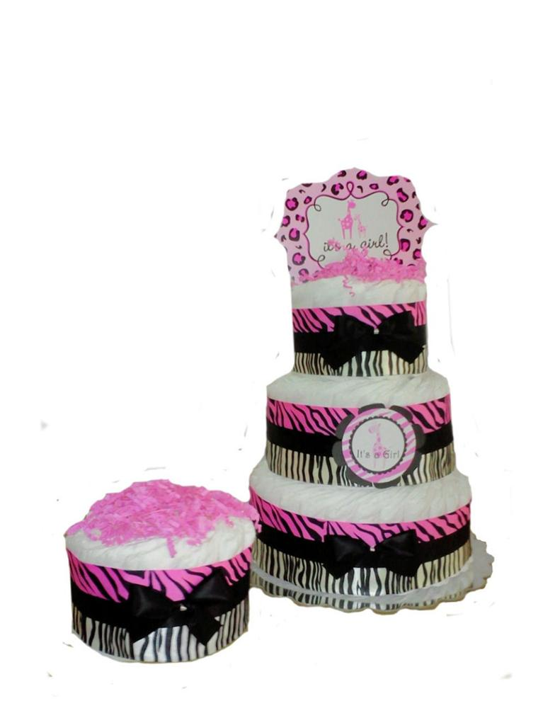 sweet safari zebra stripe pink baby shower mini diaper cakes ebay