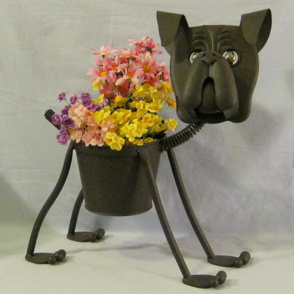 Lenny The Boxer Metal Dog Planter Container Ebay