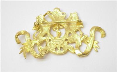 Vintage Maeve Carr New York Goldtone British Royal Crest