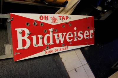 Budweiser porcelain neon brewania tavern sign OLD and near #2: tp