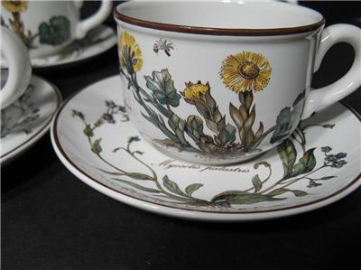Villeroy boch botanica set of four cups and saucers ebay for Villeroy boch granada