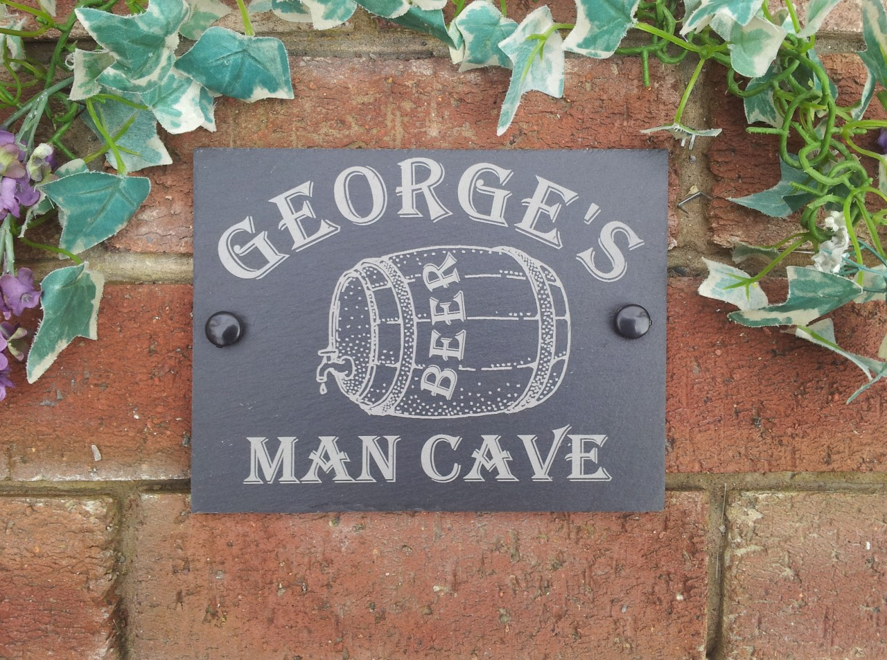 Man Cave Better Homes And Gardens : Personalised natural slate man cave garden shed workshop