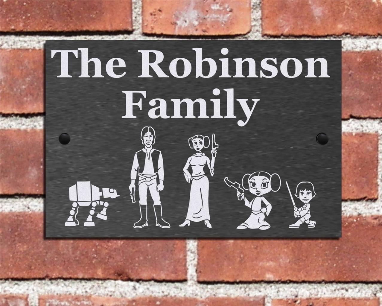 Door plaques slate personalized front door plaques image for Front door number plaques