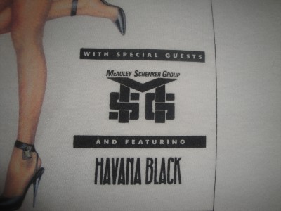 Vtg 1990 Tour Shirt MSG Havana Black Promo Capitol Records Polo
