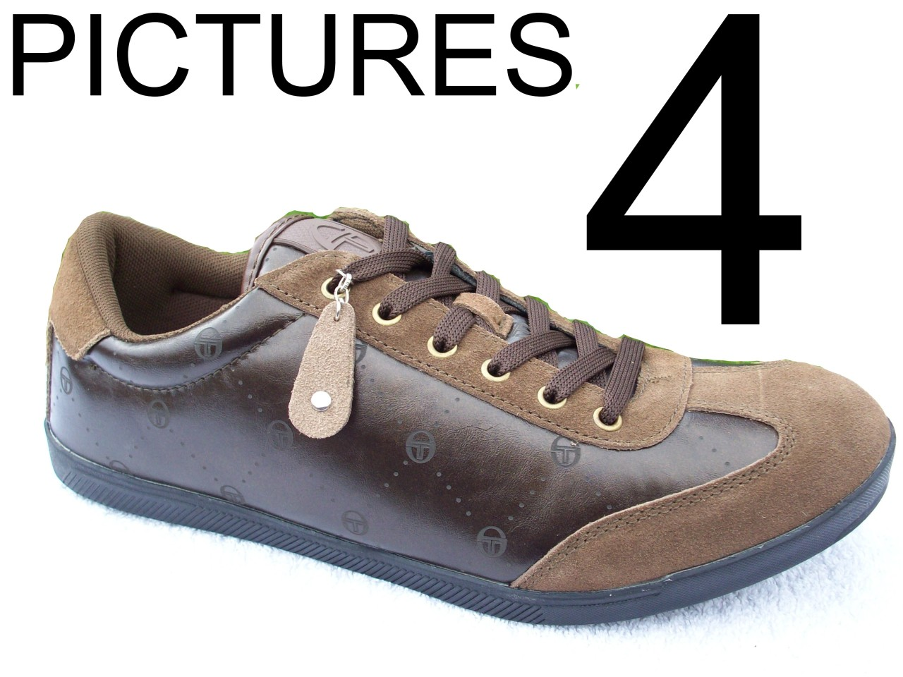 MENS-SIZE-6-7-BROWN-LEATHER-SUEDE-SERGIO-TACCHINI-LACE-SPORTS-TRAINERS-SHOES