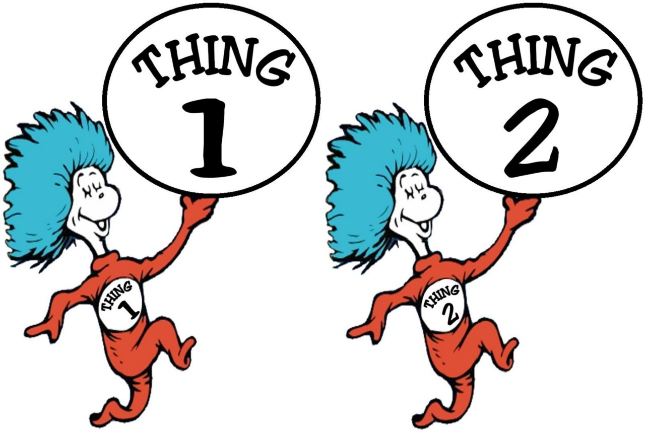 Thing 1 And Thing 2 Iron On Transfer Auctions Buy And